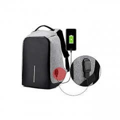 Anti Theft Backpack with USB-charging-Grey black and  grey