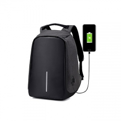 Anti-theft USB Charging Port Business Backpack - Black black