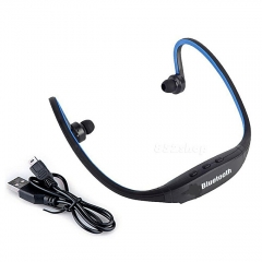 Sport Headset Earphone Universal with MIC in Ear for Smartphone Handfree Wireless Bluetooth black and blue