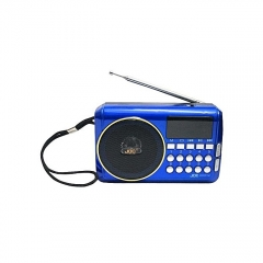Rechargable Digital Selects Music Player/Fm Radio with usb and memory slot - Blue blue
