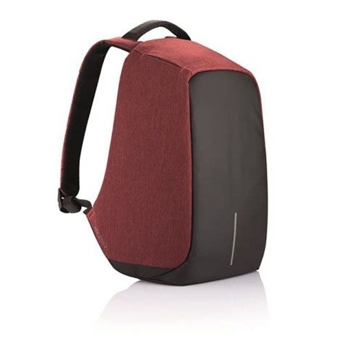 Anti-theft USB Charging Port Business Backpack - Black And Maroon black n red one size