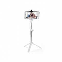 Selfie Booth Bluetooth Selfie Stick With Tripod Stand - White white one size
