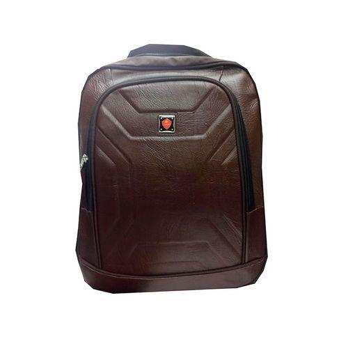 Unisex Laptop Backpack Travel College Shoulder Bag - Brown black one size