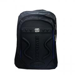 Unisex Laptop Backpack Travel College Shoulder Bag - Black black one size