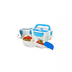 Electric Lunch Box - White & Blue white and blue