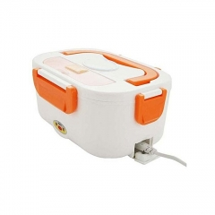 Portable multi-functional electric food grade lunchbox  Separate Removable Container white n orange
