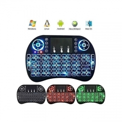 Wireless Mini Keyboard with Mouse Touchpad and Back-light for Android Box/ Smart TV/ Laptop - Black black one size
