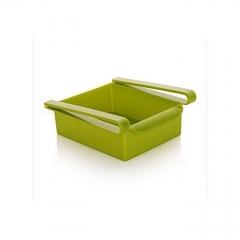 Slide Kitchen Fridge Freezer Space Saver Organizer Storage Rack Shelf Holder New - Green green one size