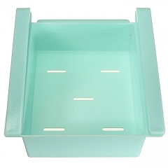 Slide Kitchen Fridge Freezer Space Saver Organizer Storage Rack Shelf Holder New - Blue blue one size