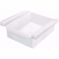 Slide Kitchen Fridge Freezer Space Saver Organizer Storage Rack Shelf Holder New - White white one size