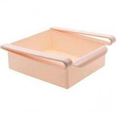 Slide Kitchen Fridge Freezer Space Saver Organizer Storage Rack Shelf Holder New - Pink pink one size