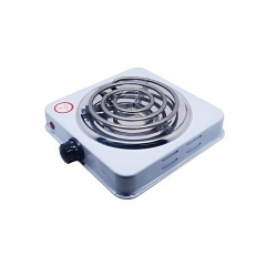 Electric Hot Plate -Single Coiled Burner white