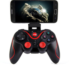 Bluetooth 4.0 Wireless Gamepad Controller Joystick For Android Phone - Black And Red