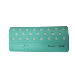 20000mAh powerbank With LED light - Blue And White white and blue 20000mah