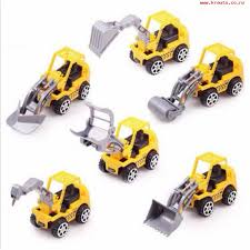 6pcs Vehicle Sets Construction Kit Kids Mini Engineering Car yellow normal