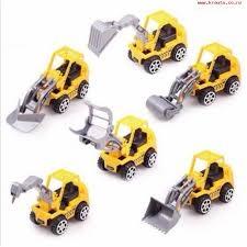 6pcs Vehicle Sets Construction Kit Kids Mini Engineering Car yellow normal