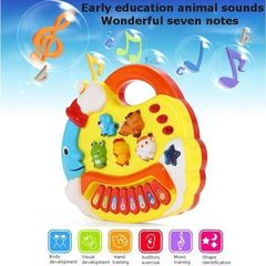 Kids Musical Educational Animal Farm Piano Developmental Music Toy Gift multicolour one size