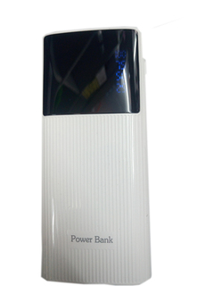 20000mAh powerbank With Powerful LED Light - White White 20000mah