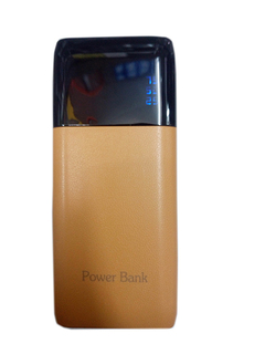 20000mAh powerbank With Powerful LED Light - Brown brown 20000mah