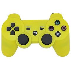 PS3/PC Pad Dual Shock 3 - Wireless Controller Premium-Yellow Yellow one size