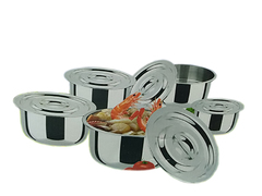 Cooking Sufurias-10 Pcs Silver silver one size