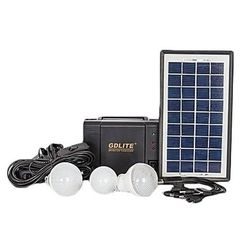 GD 8006 A - Solar Panel, LED lights and phone charging Kit black normal -