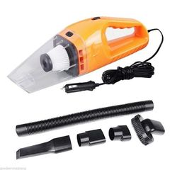 Car Vacuum Cleaner Wet&Dry Portable Super Auto Dust Hand Vac Pet Hair Crumbs Cleaner - Orange