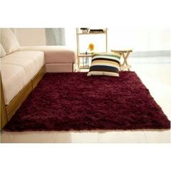 Fluffy Carpets - Soft And Comfortable - maroon maroon medium