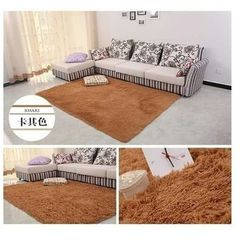 Fluffy Carpet - Soft and comfortable - Brown Brown medium