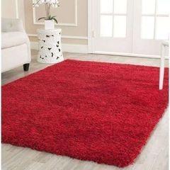 Fluffy Smooth Carpet - Red red medium