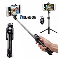 Tripod Selfie Stick Bluetooth For Plus Android And IOS black one size