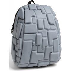 School Bag,Travel Bag,Antitheft bag with 3D Block Patterns Grey