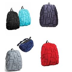 School Bag,Travel Bag,Antitheft Bag with 3D Block Patterns - Varying Colour Varying Colors