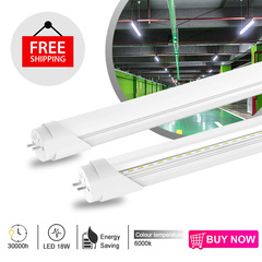 Free Shipping Aluminum/PC Material 1800LM SMD2835 T8 led tube light White Light 6000k 1200mm 18W