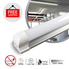 1PCS T8 220VAC led interior integrated tube lighting White light 6000k 1200mm 18w
