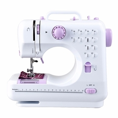 Household small 12-pin mini desktop multi-function sewing machine white