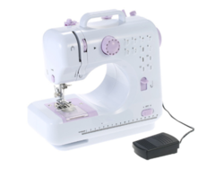 households sewing machine 12-pin sewing machines with Foot Pedal 2 Speed Double Threads white