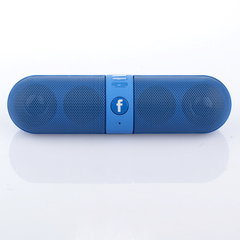 phones Portable Capsule Wireless Stereo hifi system bluetooth speakers bluetooth speaker blue one size