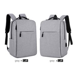 Laptop Usb backpack School&Bussiness bags Anti Theft Men For Travel  Leisure Backpack backpacks Gray 16inch