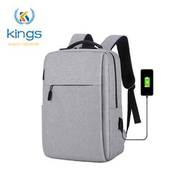 Laptop Usb Backpack School&Bussiness Bags Anti Theft Men For Travel  Leisure Bagpack Rucksacks Gray 16inch
