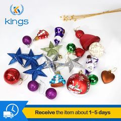 20PCS Christmas Decorations Ball Christmas tree pendants Christmas Eve Gift Event & Party Supplies mixed color 2 one size