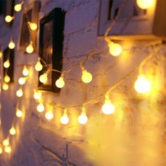 3M Lights Decorations Globe String Lights for Valentine Gifts Bedroom Wall Festival Party Supplies warm color one size