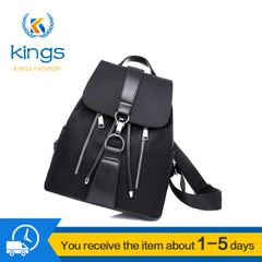 Lock Couple Women Backpacks Ladies Rucksack Multi-functional Outdoor Travel Bags black one size