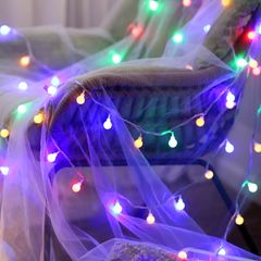 3M Lights Decorations Globe String Lights for Gifts Bedroom Wall Festival Party Supplies mixed color one size