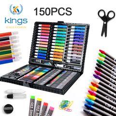 150 Pcs Color Pencils Set Brush Crayon Children Painting Carton Learning Education color one size