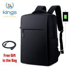 16 Inch Laptop Backpack USB Bussiness School Bags Anti Theft Men Women Travel Rucksacks Waterphroof Black 16inch