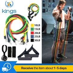 11PCS Fitness Strength Elastic Yoga Resistance Bands Exercise Bands Home Office Gym mixed color one size
