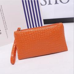 Women's Clutch Wallets Wristbag Wrist Bag PU Zipper Cute Card Cash Phone Holder Lady Girls Fashion orange one size