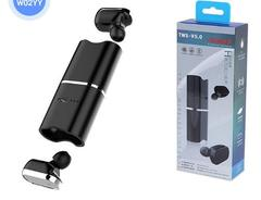 Mini Bluetooth Headsets Wireless Sports In-ear Earbud Earpiece New Earphone Single Double Headphone W02-YY double ear one size