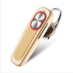 Bluetooth Earphone Single Ear Hook Earpiece Wireless Sports Headsets Mobile Phone Stereo Ear-bud gold one size